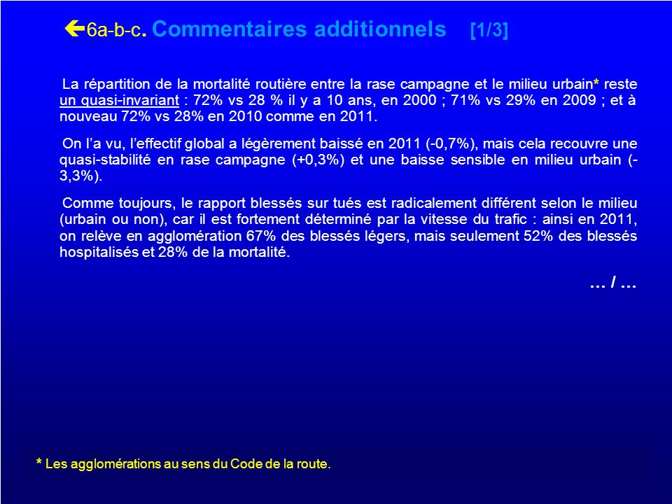 6a-b-c. Commentaires additionnels [1/3]